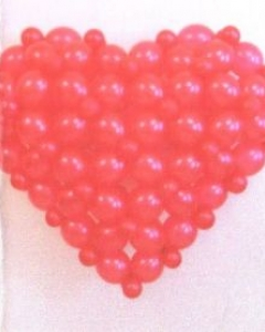 Valentine Giant Heart Balloons Bouquets