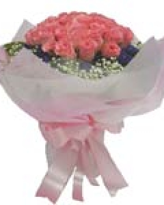 18 Pink Rose Bouquet